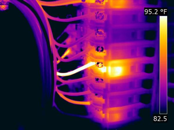 Thermographic Imaging of Overheating Electrical Wiring
